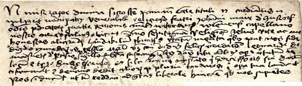 Le texte en Latin de Léonard de Vinci